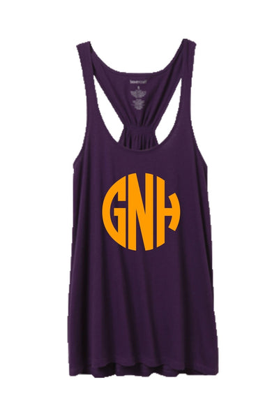 Purple Flare Tank Top #T87P *Personalize It! (PLEASE ALLOW 3-5 BUSINESS DAYS. EXPEDITED SHIPPING N/A)