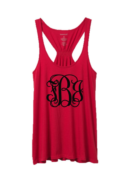Red Flare Tank Top #T87R *Personalize It! (PLEASE ALLOW 3-5 BUSINESS DAYS. EXPEDITED SHIPPING N/A)