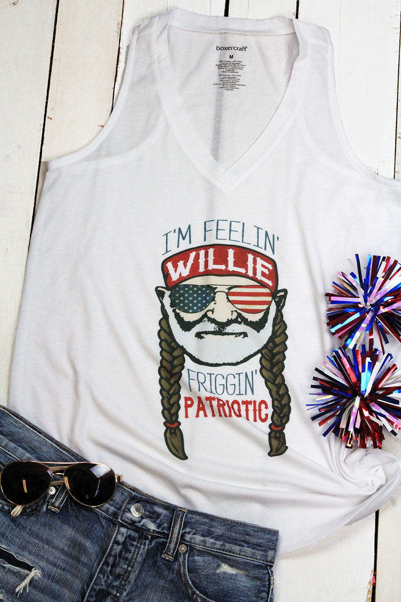 Willie Patriotic Ladies At Ease Tank
