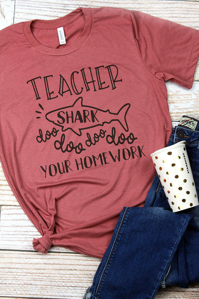 Teacher Shark Tri-Blend Short Sleeve Tee