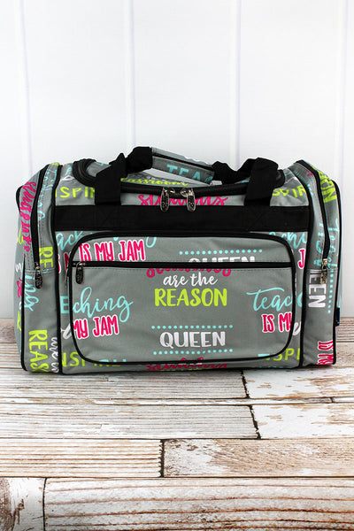 NGIL Teacher Life Duffle Bag 20""
