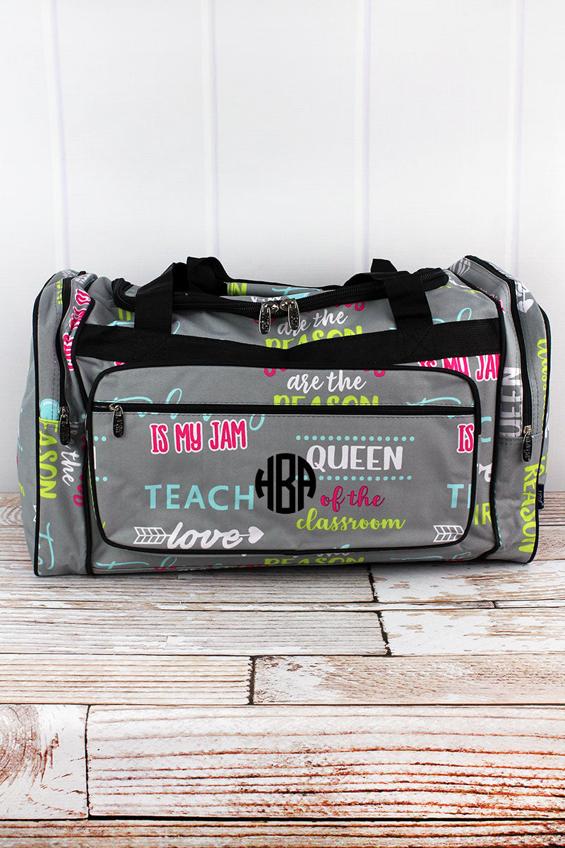 NGIL Teacher Life Duffle Bag 23""