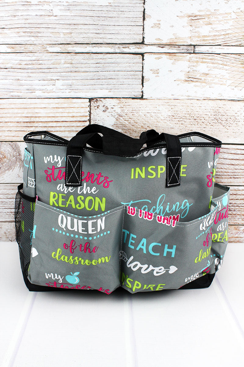NGIL Teacher Life Large Organizer Tote