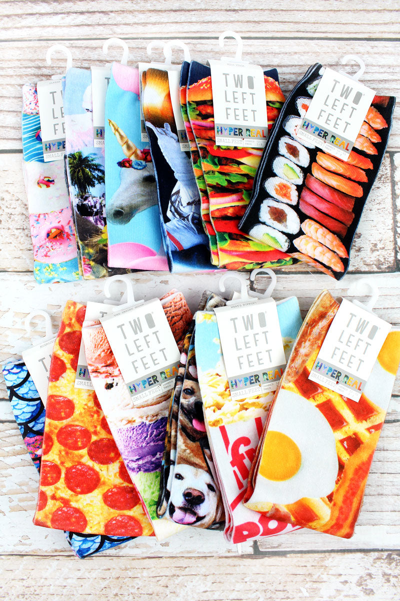 One Pair of Small Hyper Real Sublimated Socks - SHIPS ASSORTED