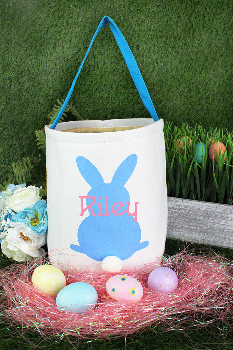 Blue Bunny Easter Bucket Bag