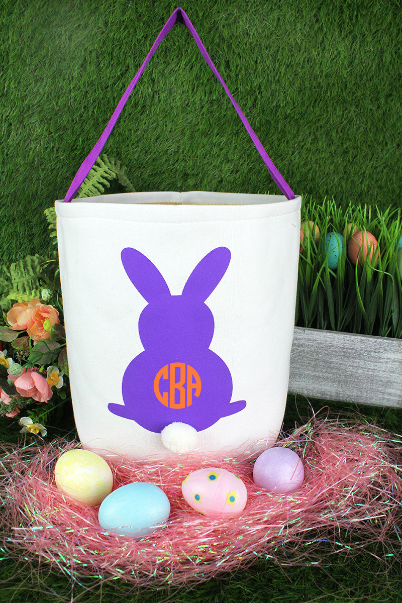Purple Bunny Easter Bucket Bag