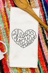 Bless Your Heart Waffle Kitchen Towel