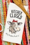 Kitchen Closed This Heifer's Had It Waffle Kitchen Towel