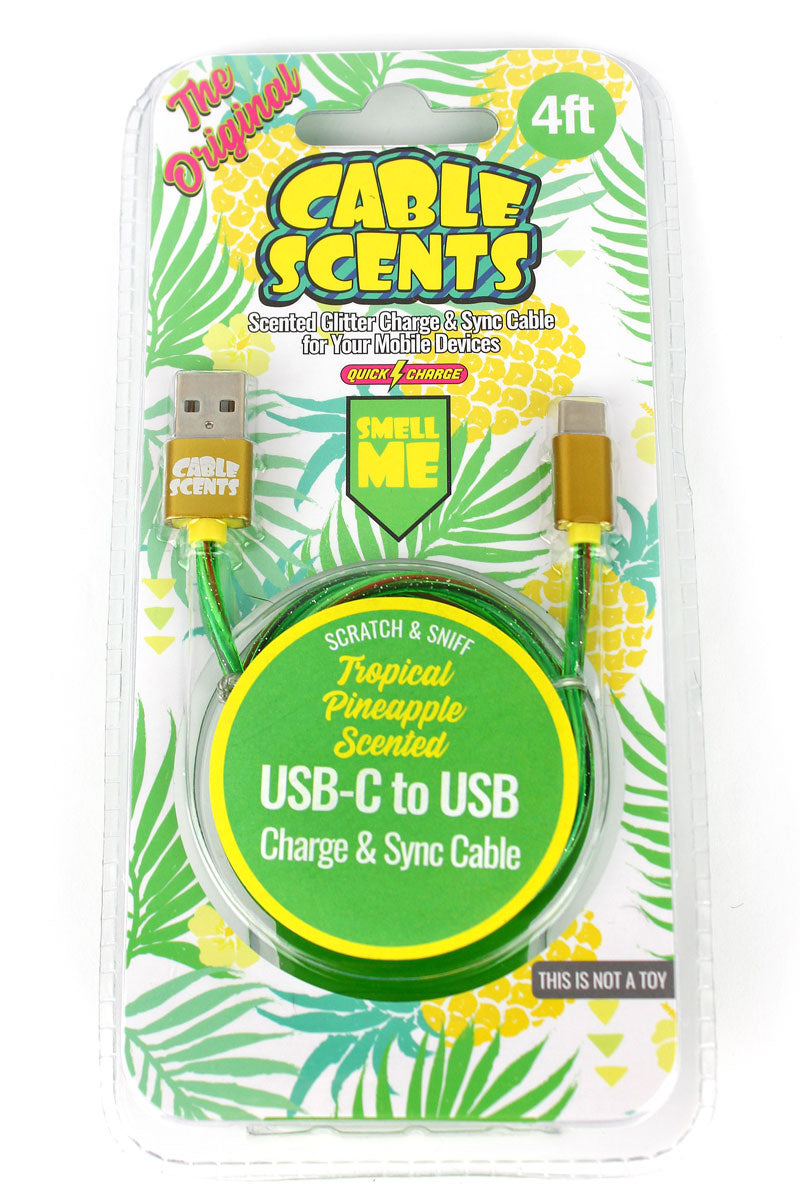 Cable Scents Tropical Pineapple USB-C to USB Charge & Sync Cable