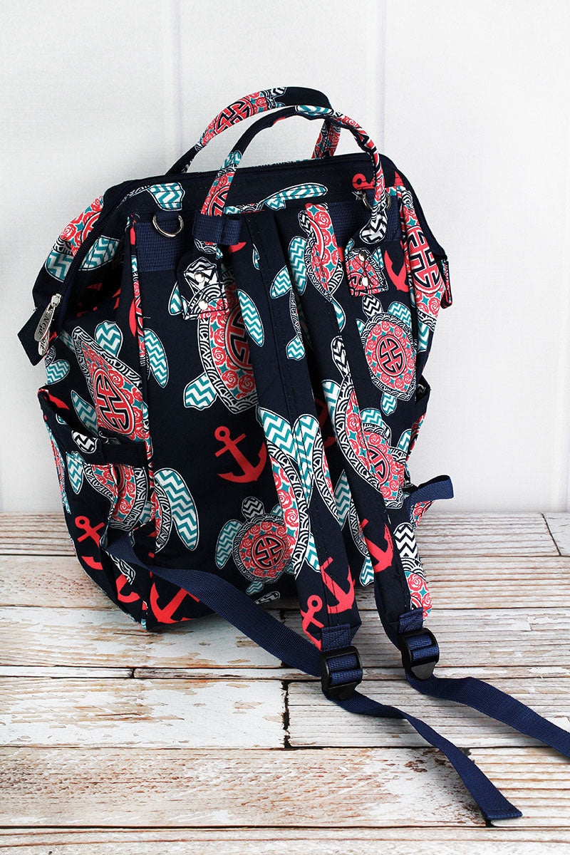 NGIL Preppy Under the Sea Diaper Bag Backpack
