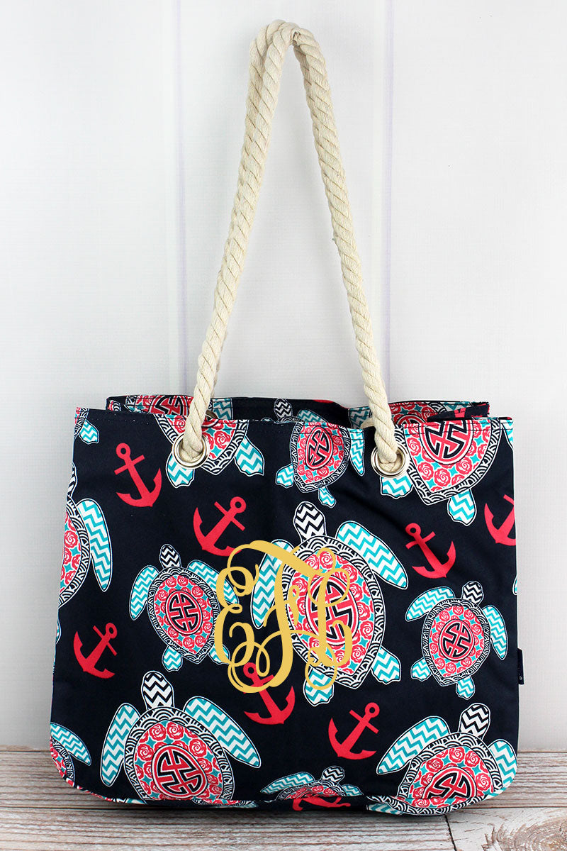 NGIL Preppy Under The Sea Rope Handle Tote