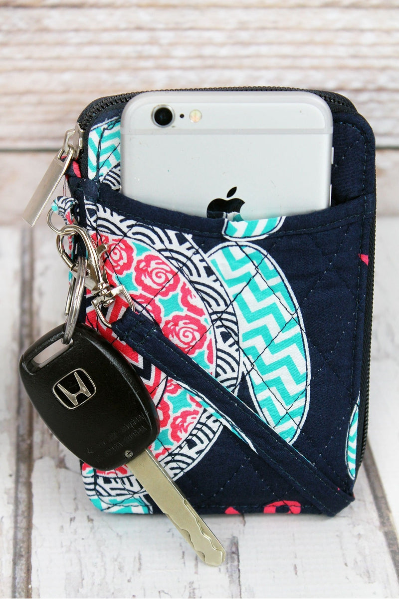 NGIL Preppy Under The Sea Quilted Wristlet