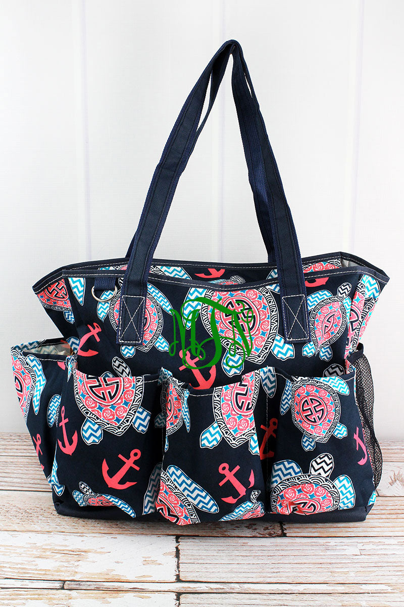NGIL Preppy Under The Sea Large Organizer Tote