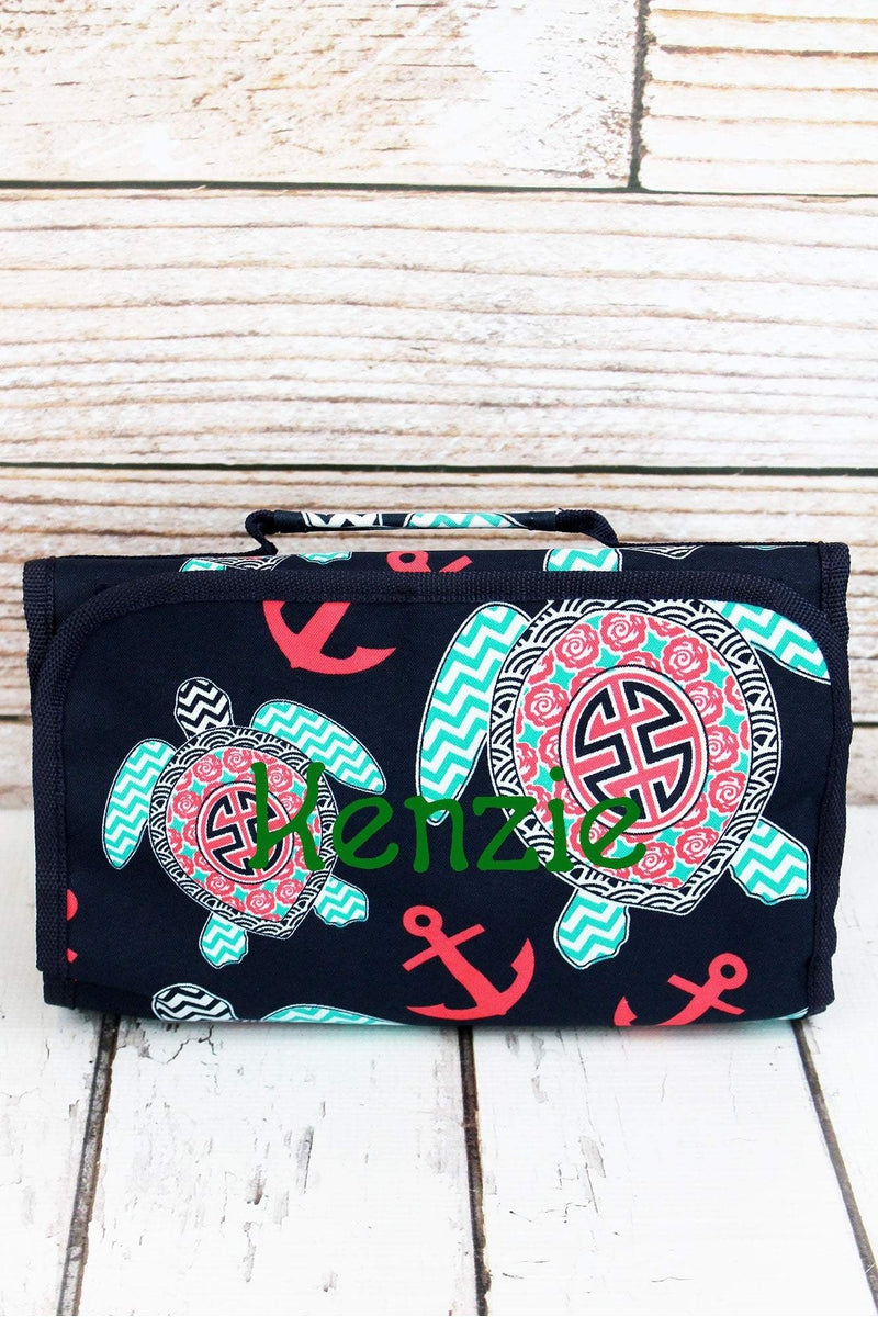 NGIL Preppy Under The Sea Roll Up Cosmetic Bag
