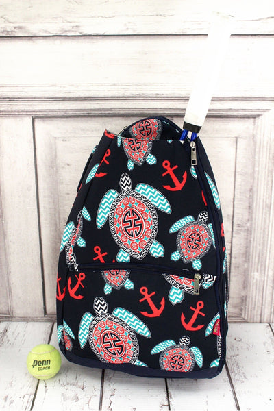 Preppy Under the Sea Tennis Backpack #TUL734-NAVY