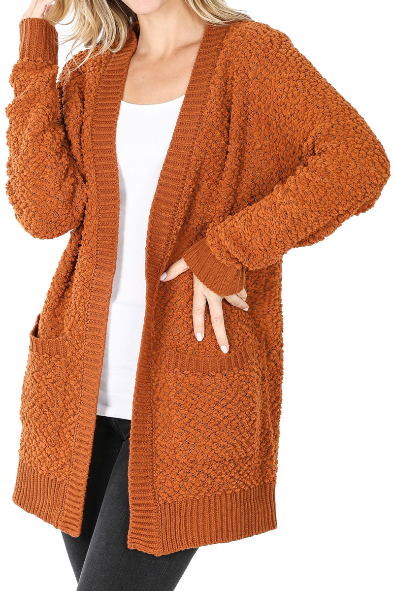 Almond Popcorn Pocket Cardigan