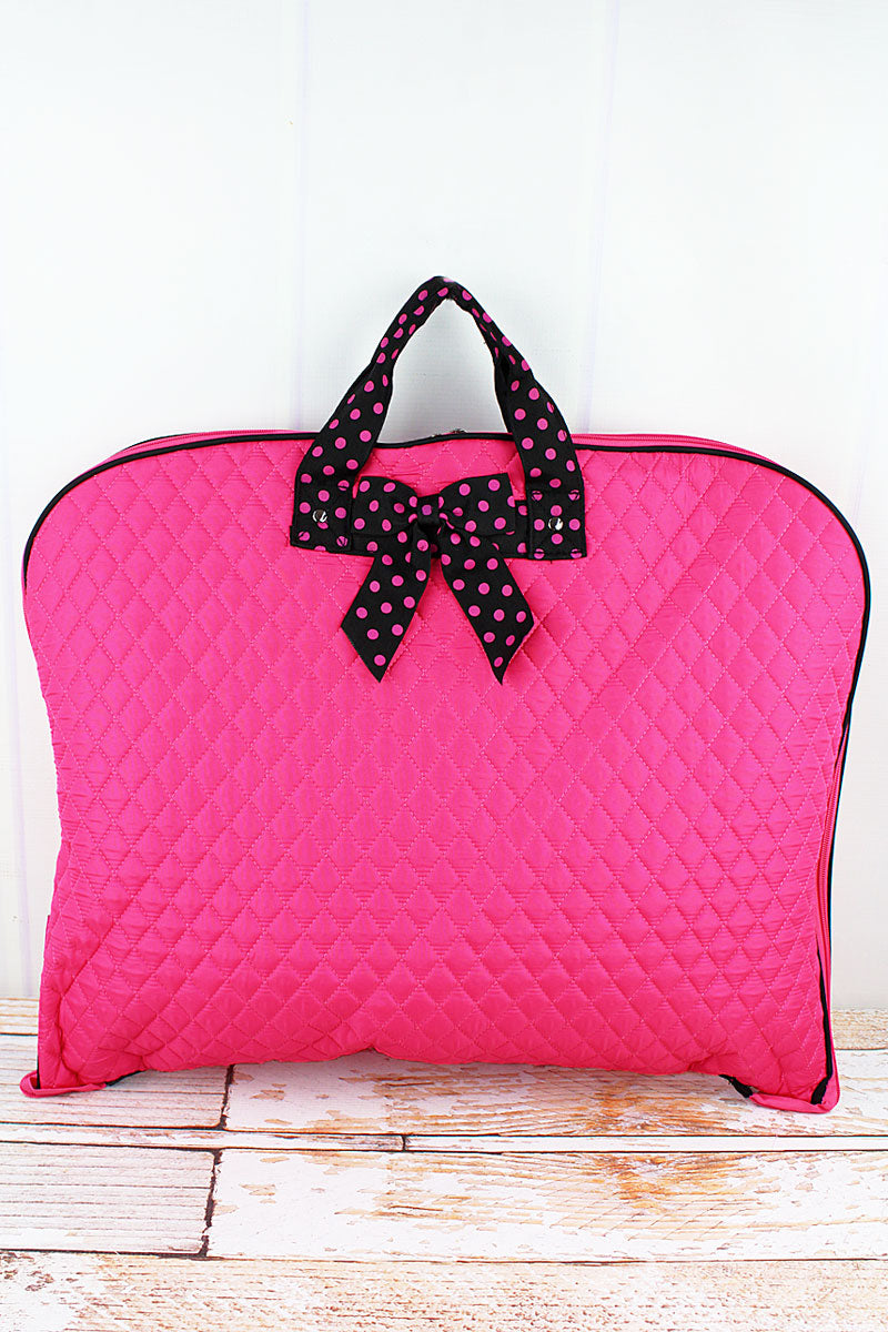 NGIL Hot Pink and Black Quilted Garment Bag