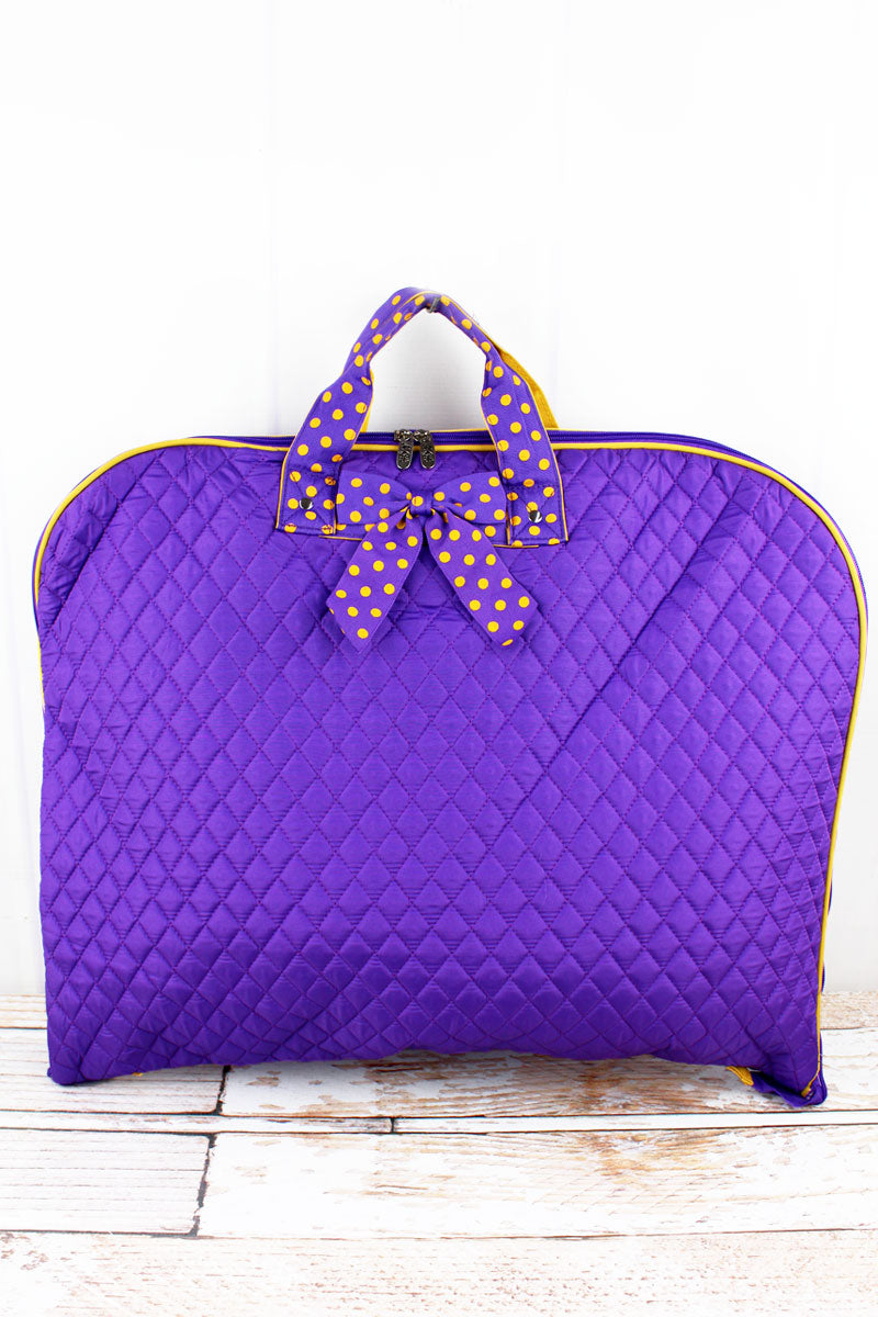 NGIL Purple and Yellow Quilted Garment Bag