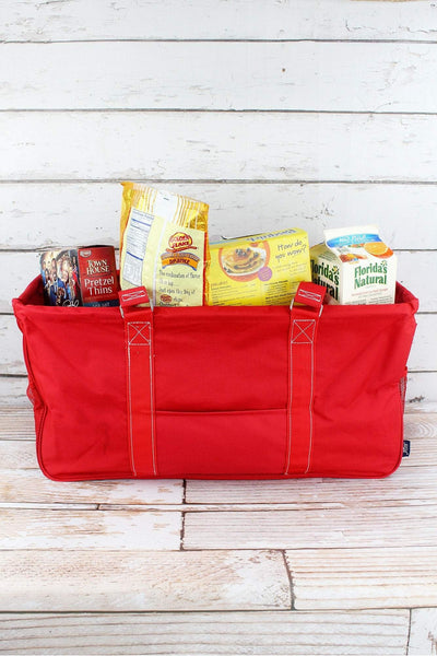 NGIL Red Collapsible Haul-It-All Basket with Mesh Pockets