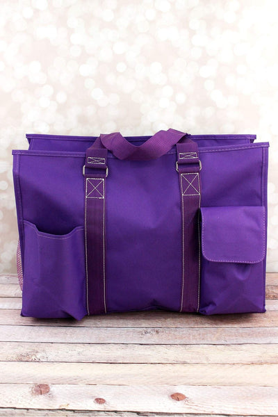 NGIL Purple Large Organizer Tote
