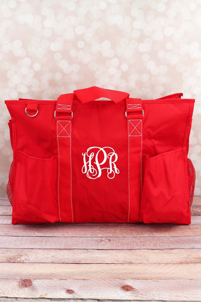 NGIL Red Large Organizer Tote