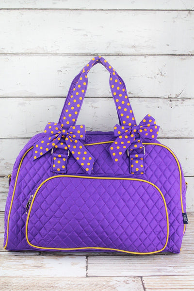 NGIL Purple and Yellow Quilted Weekender