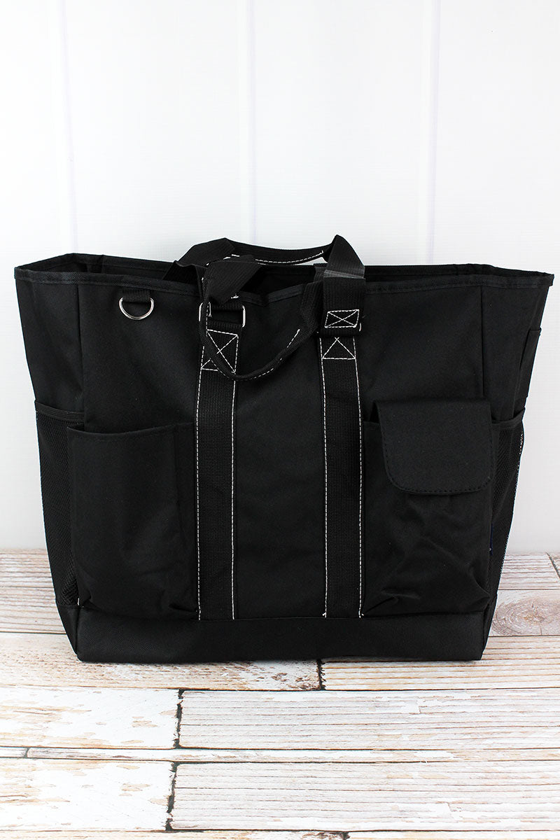 NGIL Black Everyday Organizer Tote