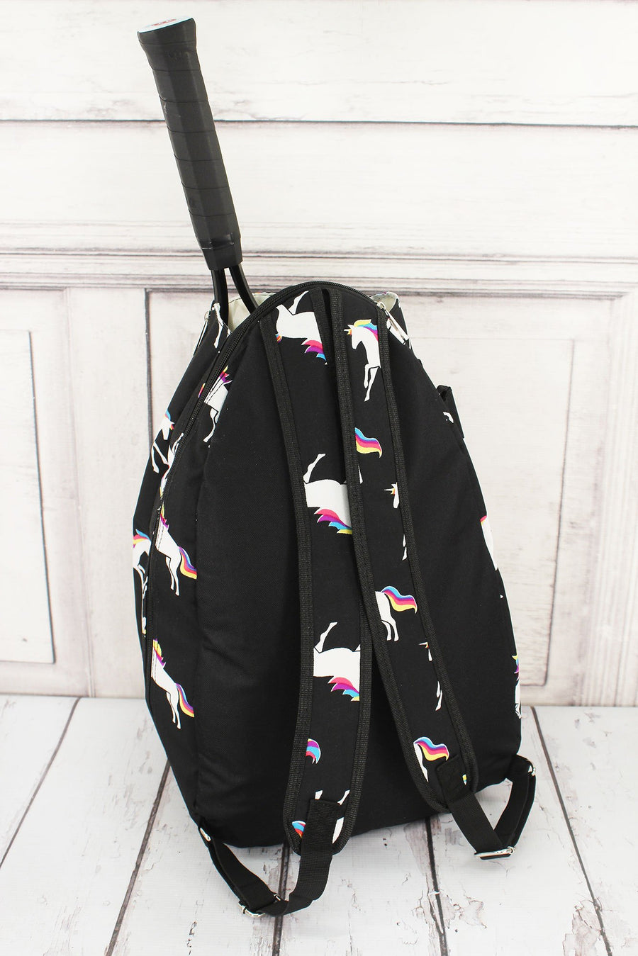NGIL Enchanted Unicorn Black Tennis Backpack