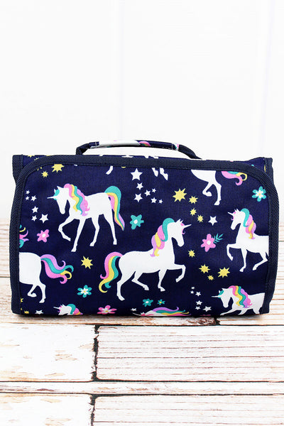 NGIL Unicorn Dreams Roll Up Cosmetic Bag