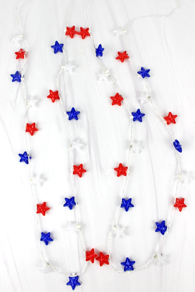 One Patriot Pride Flashing Star Necklace - SHIPS ASSORTED