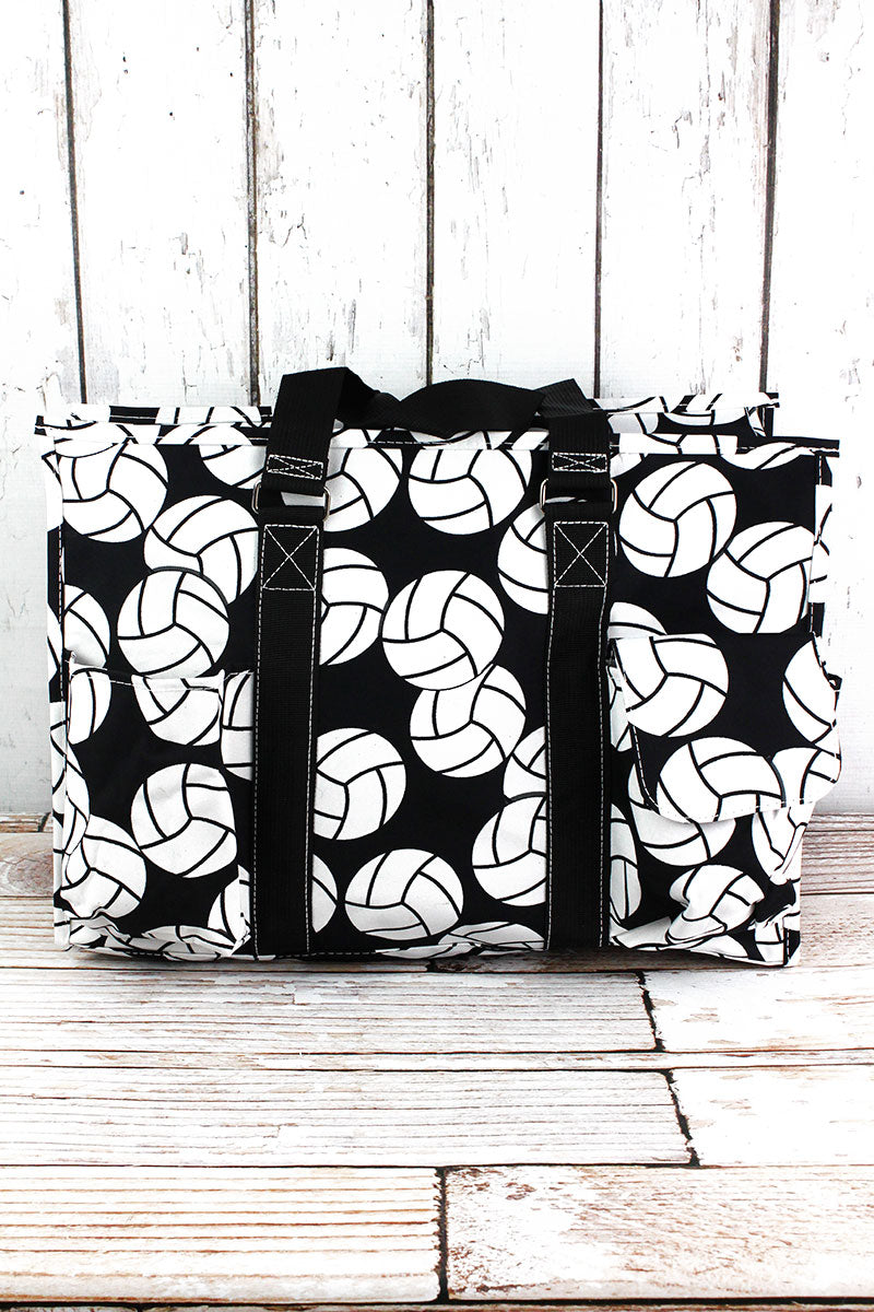 NGIL Volleyball with Black Trim Large Organizer Tote