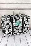 Volleyball Collapsible Double Haul-It-All Basket with Mesh Pockets and Lid #VOL809-BLACK