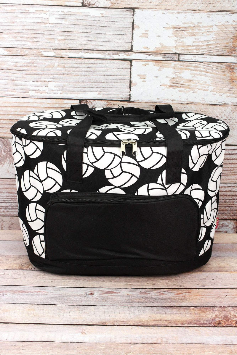 NGIL Volleyball and Black Cooler Tote with Lid