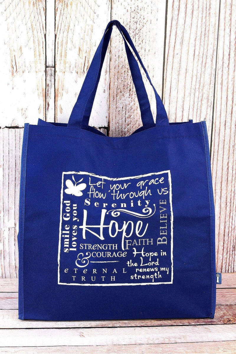 Written Reflections 'Hope' Blue Tote Bag