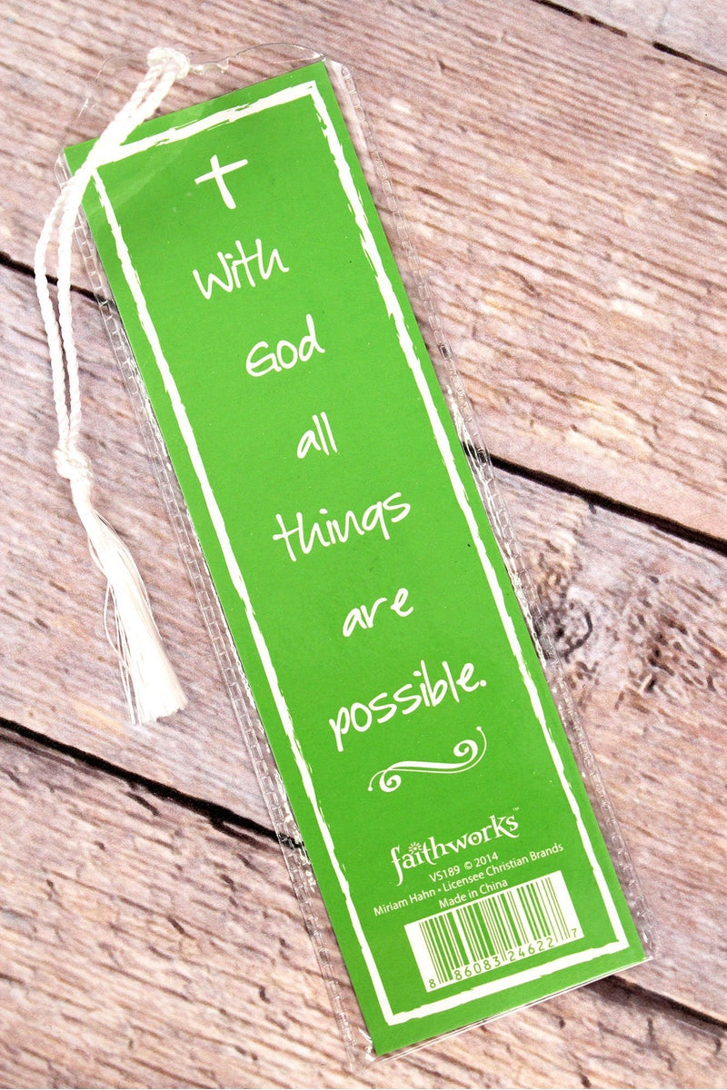 Written Reflections 'Faith' Lime Green Bookmark
