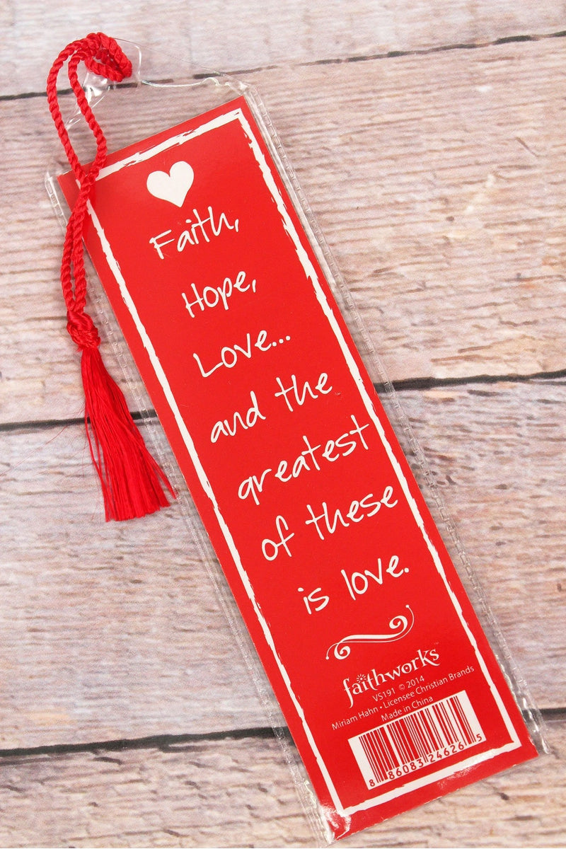 Written Reflections 'Love' Red Bookmark