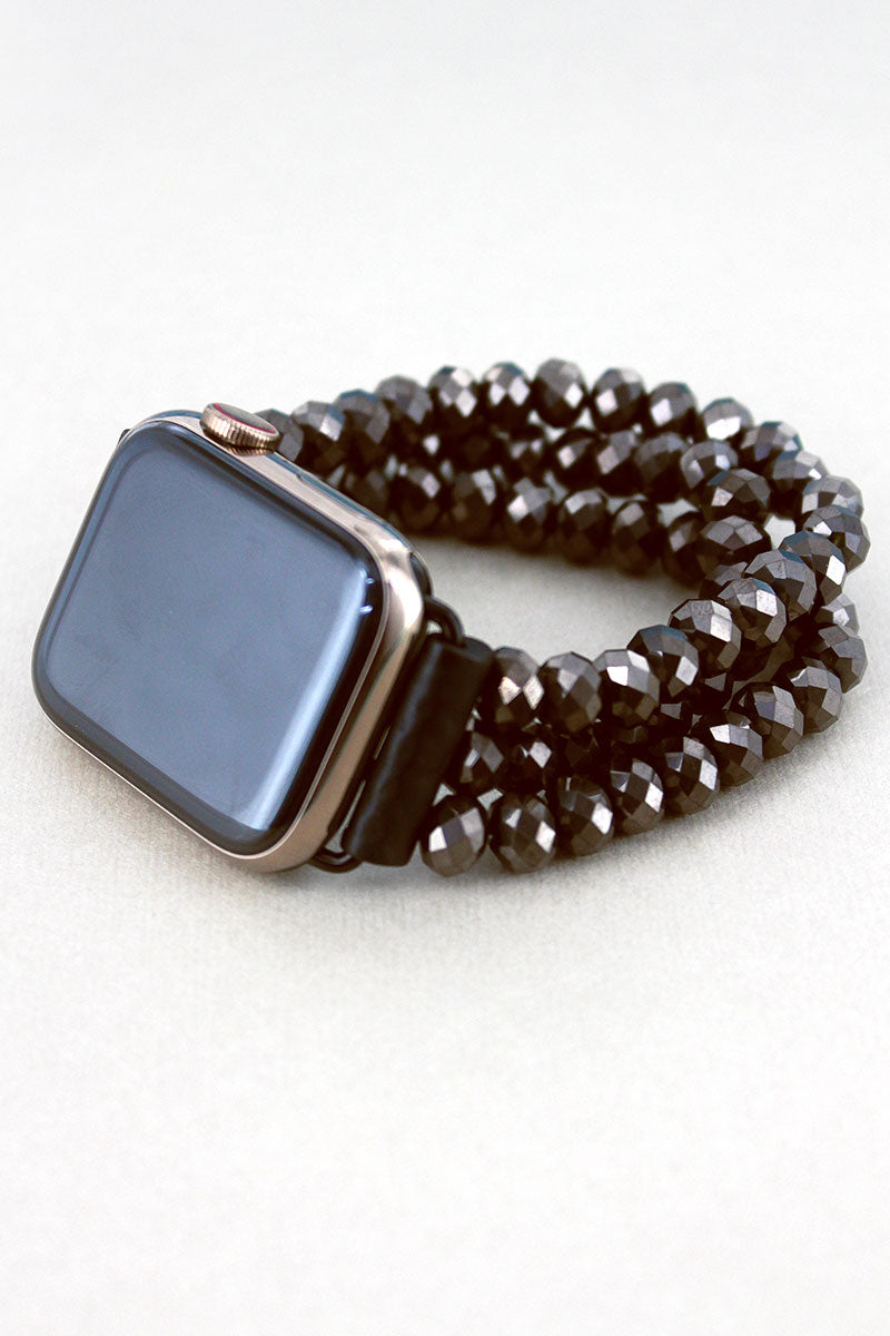 Hematite Faceted Bead Apple Watch Bracelet Band