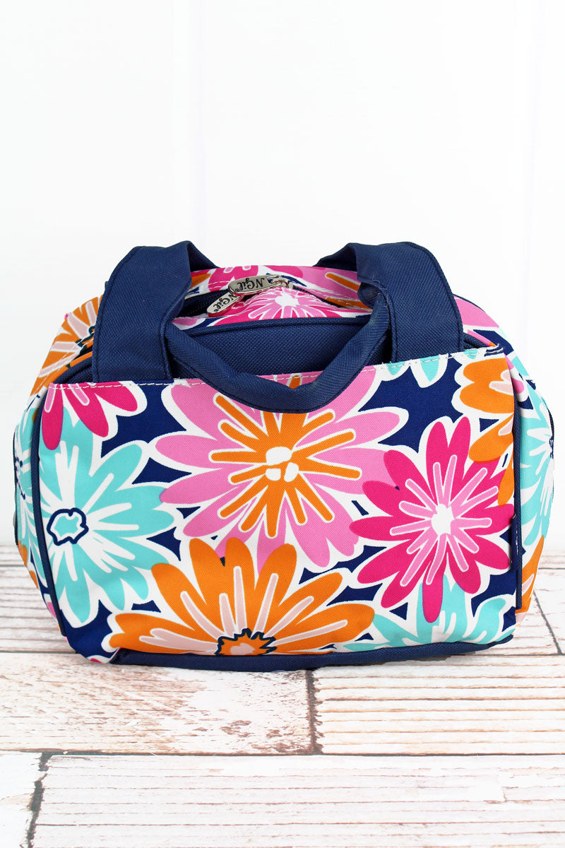 NGIL Vibrant Flowers Insulated Bowler Style Lunch Bag