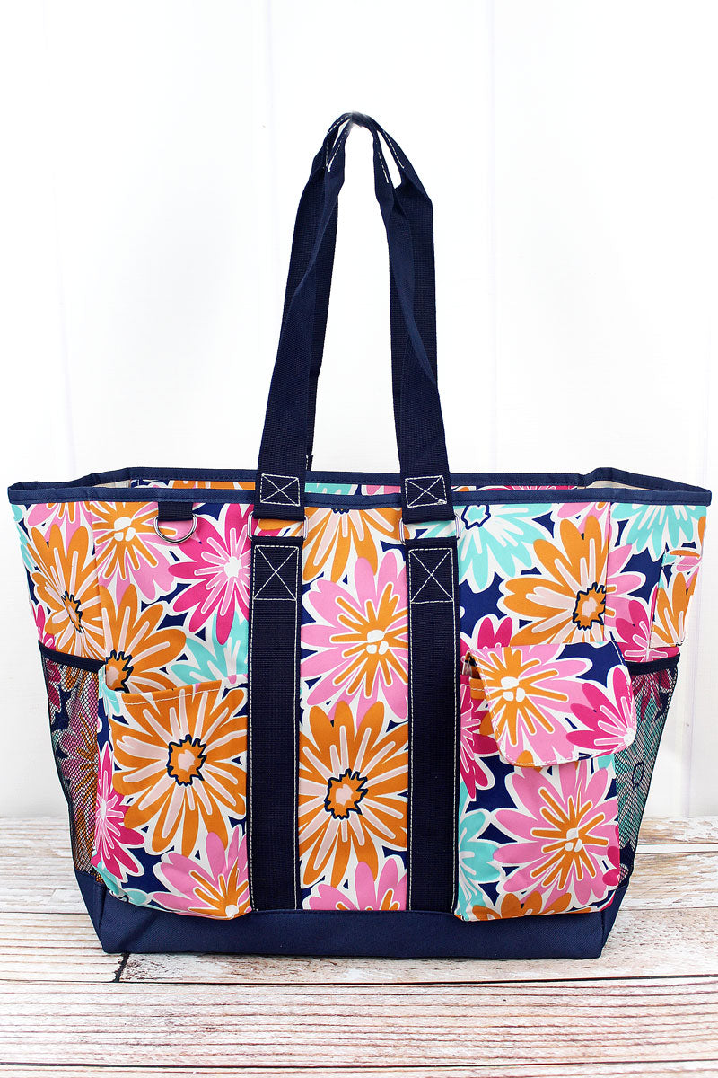 NGIL Vibrant Flowers Everyday Organizer Tote