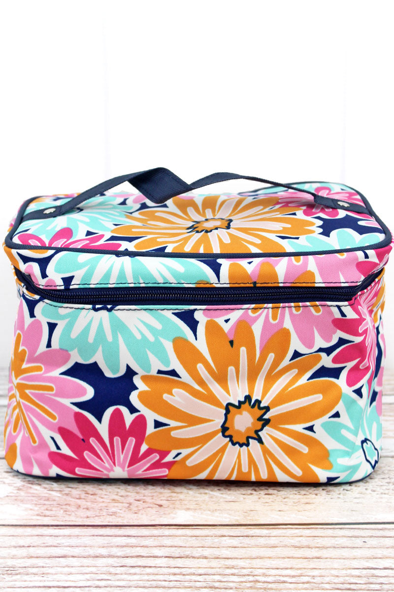 NGIL Vibrant Flowers Train Case