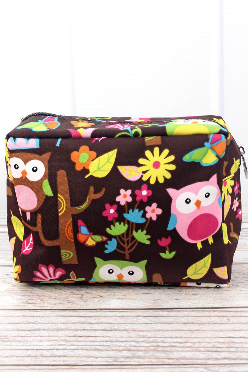 SALE! NGIL Owl Give A Hoot Cosmetic Case with Brown Trim