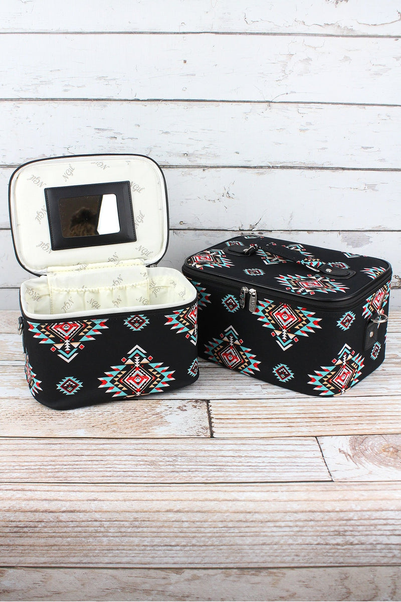 NGIL Desert Diamond 2 Piece Cosmetic Case Set