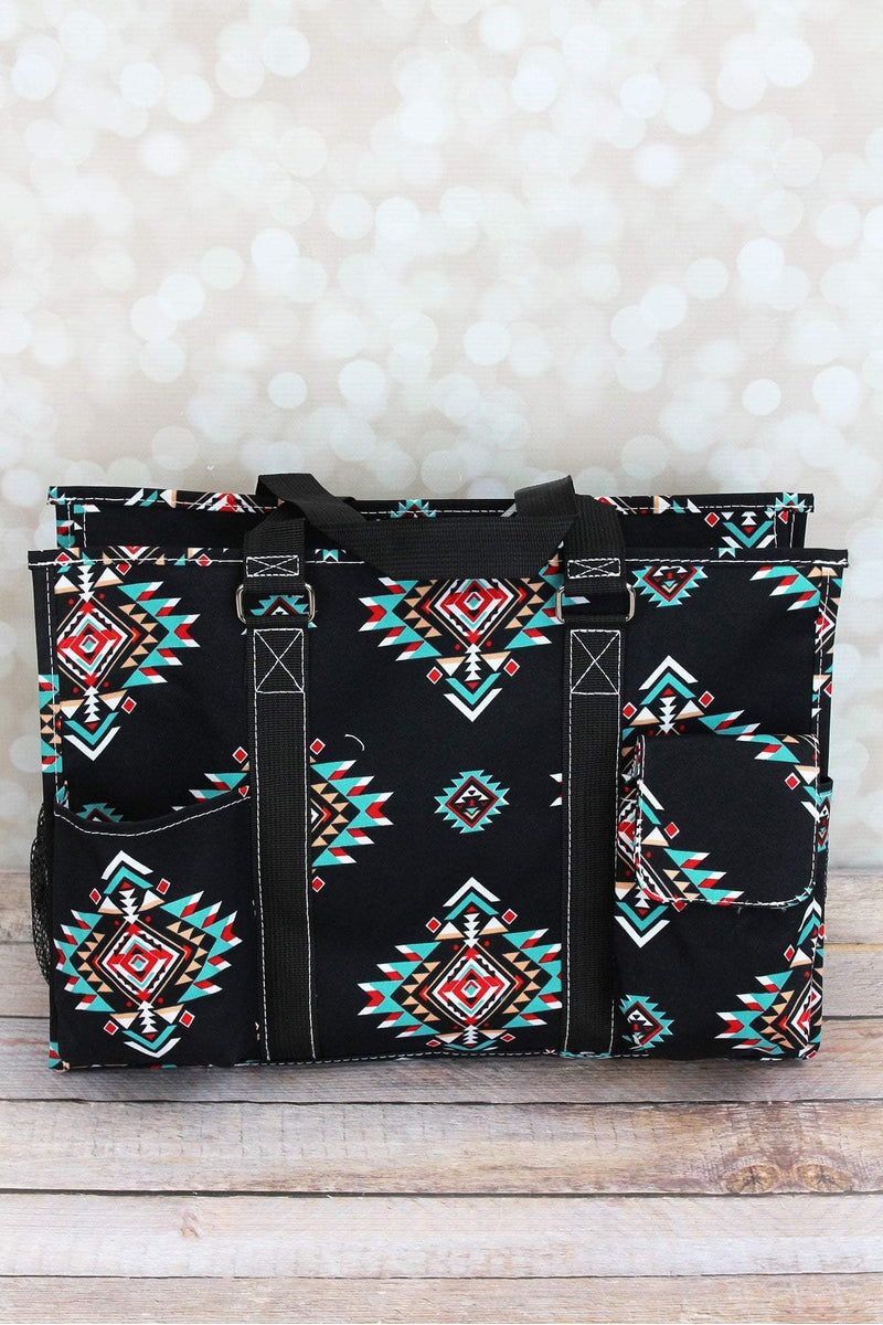 NGIL Desert Diamond Utility Tote with Black Trim