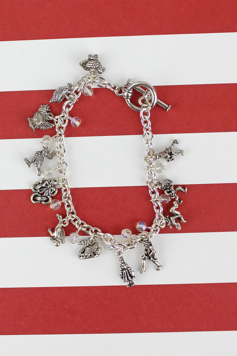 12 Days of Christmas Charm Toggle Bracelet
