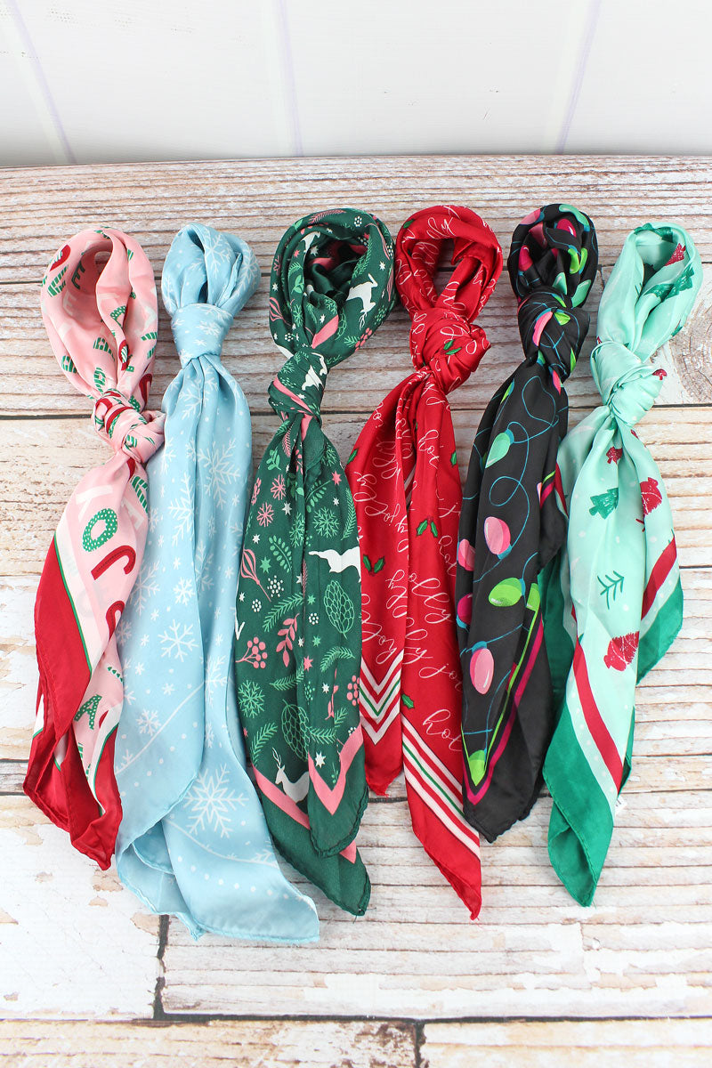 One Holiday Hair & More Scarf - SHIPS ASSORTED