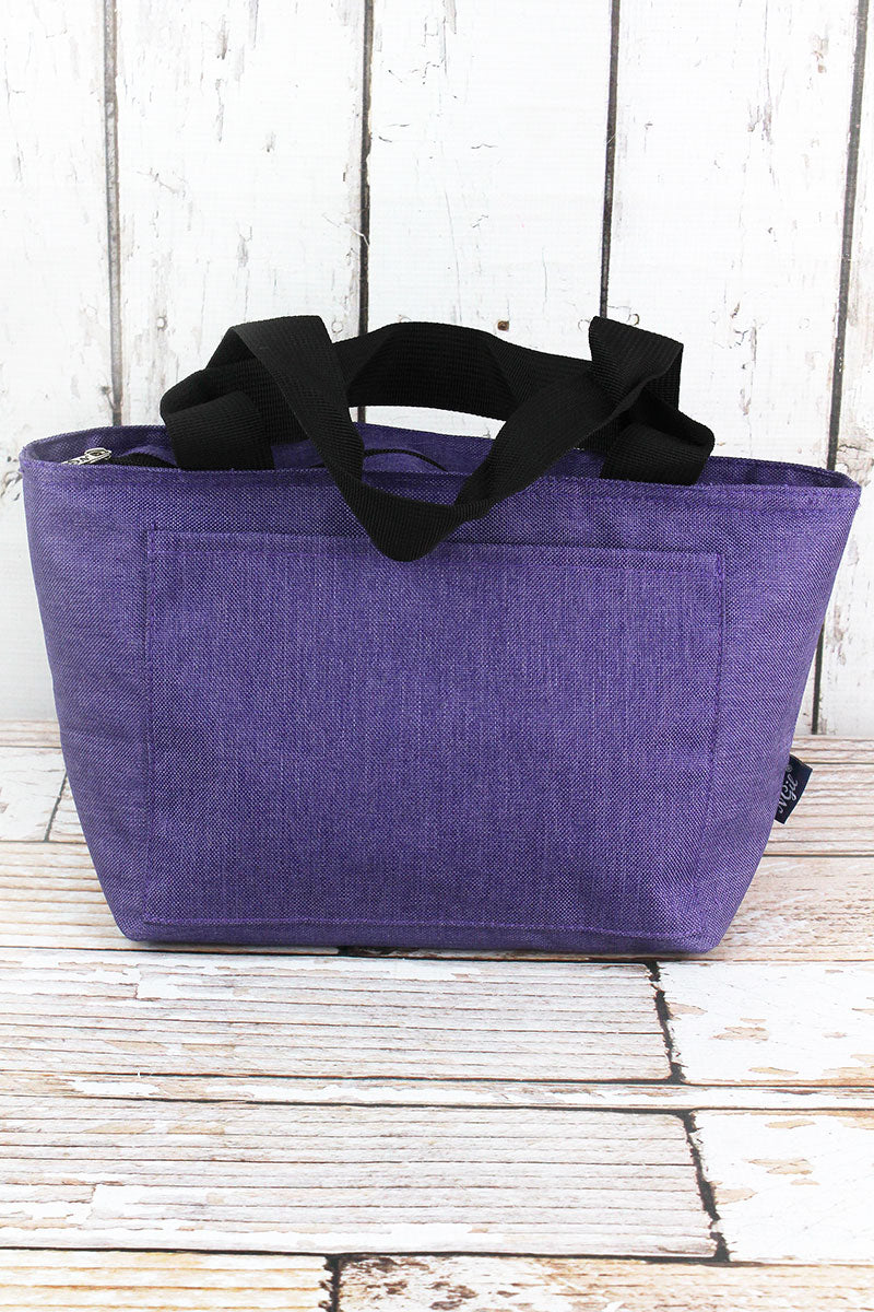 NGIL Amethyst Purple Crosshatch Insulated Lunch Bag