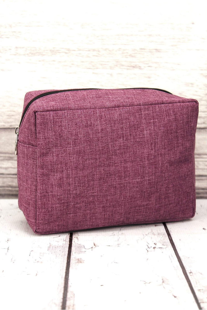 NGIL Black Cherry Crosshatch Cosmetic Case