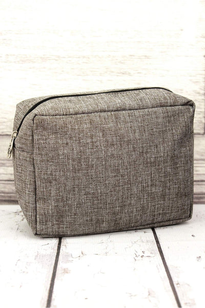 NGIL Steel Gray Crosshatch Cosmetic Case