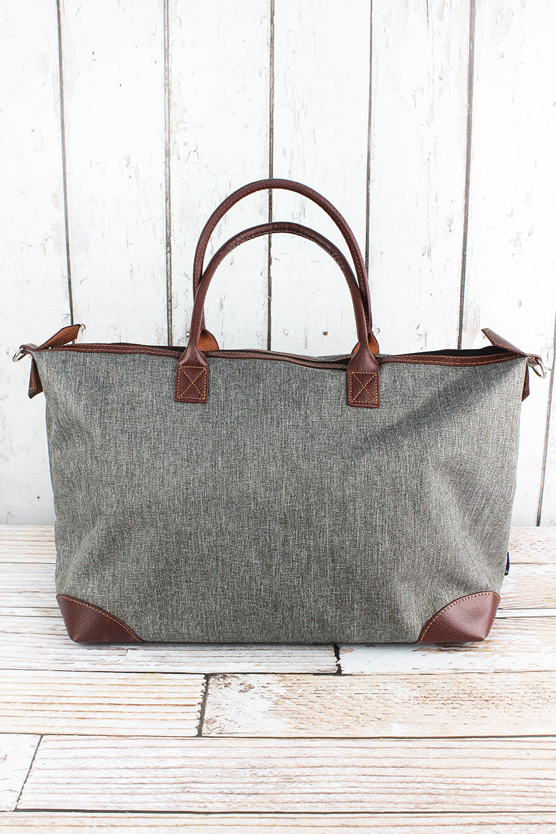 NGIL Steel Gray Crosshatch Large Tote Bag