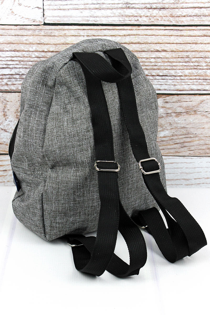 Steel Gray Crosshatch Small Backpack